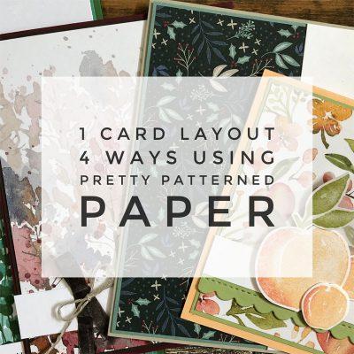 1 Card Layout 4 Ways