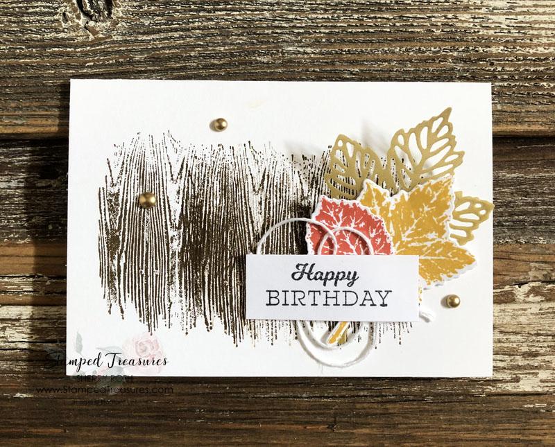 Gorgeous Leaves Birthday Card