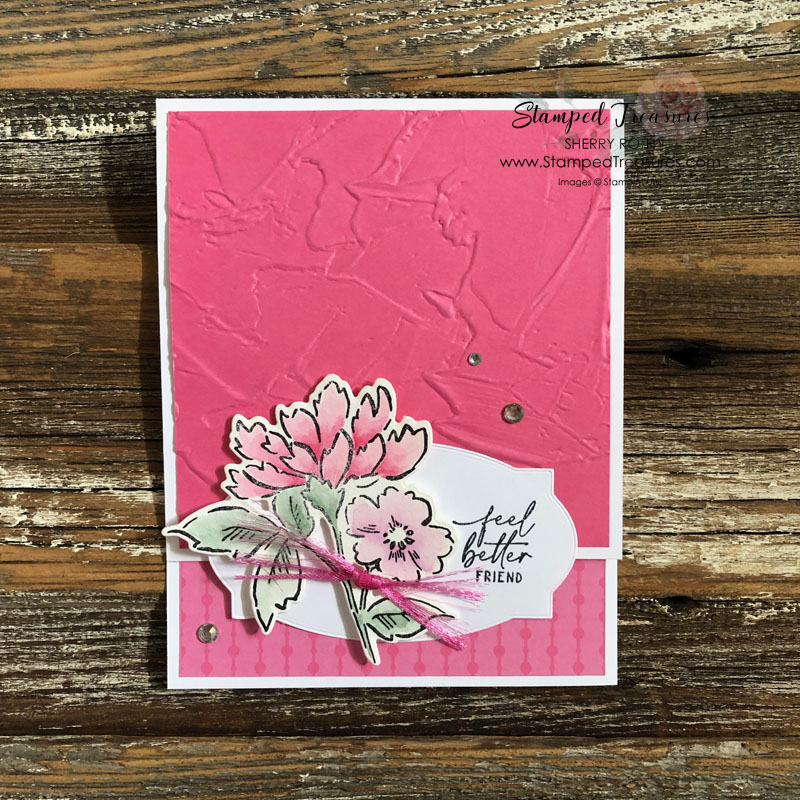 Hand-Penned Petals Feel Better Card