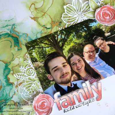 Artistically Inked Family Scrapbook Layout