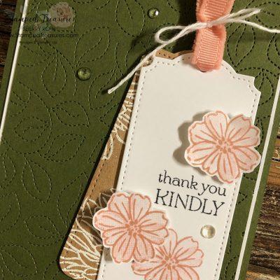 Delicate Dahlias Thank You Card