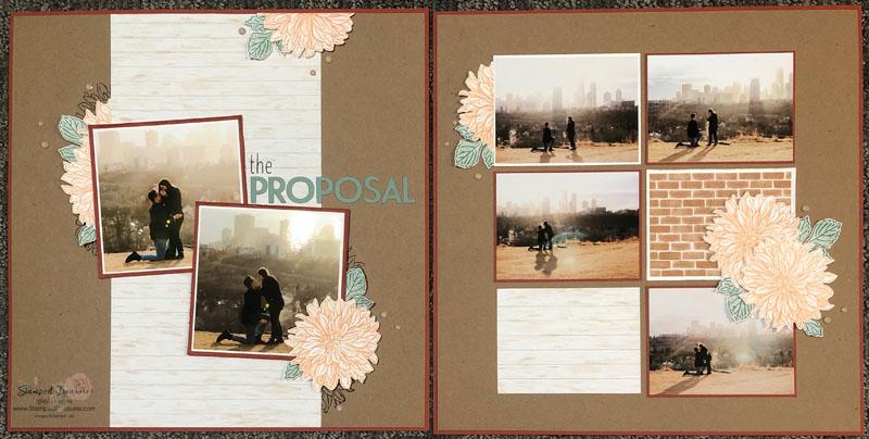 Delicate Dahlias Scrapbook Layout 1