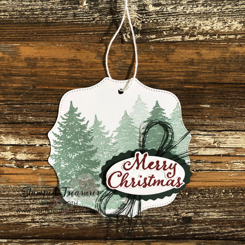 Evergreen Elegance Holiday Gift Tag