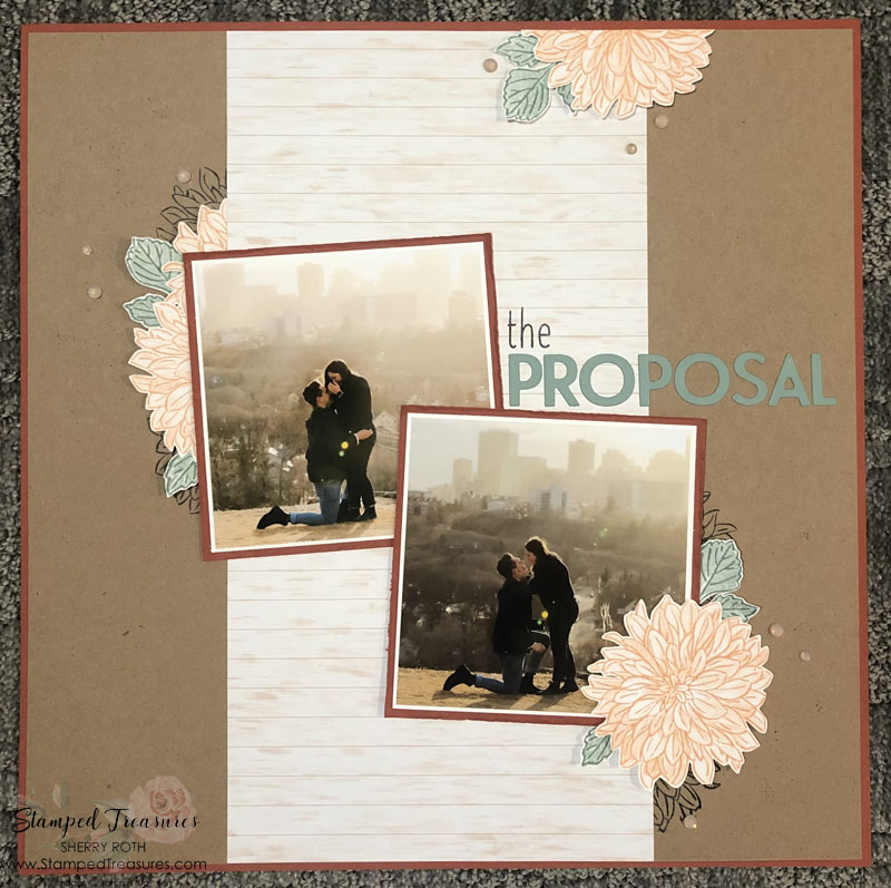 The Proposal Scrapbook Layout