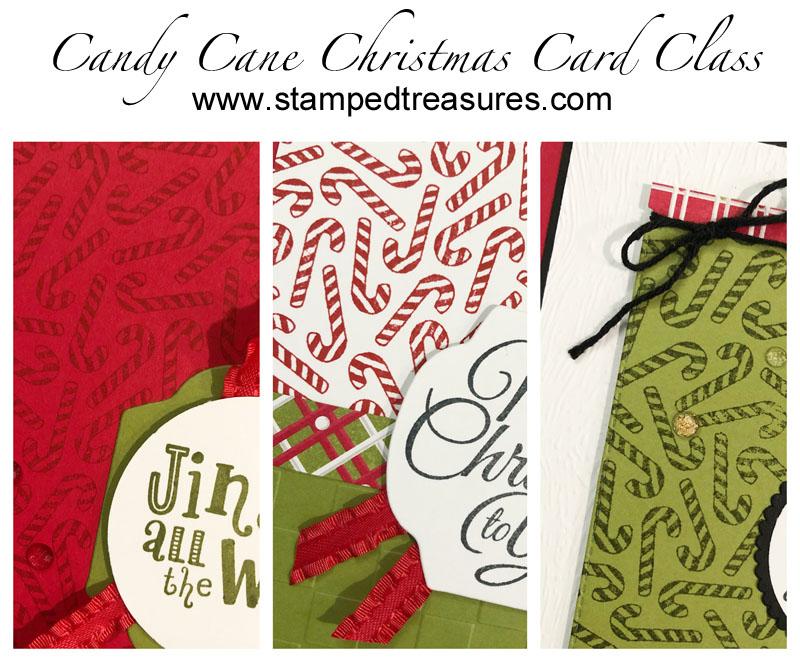 Candy Cane Christmas Card Class