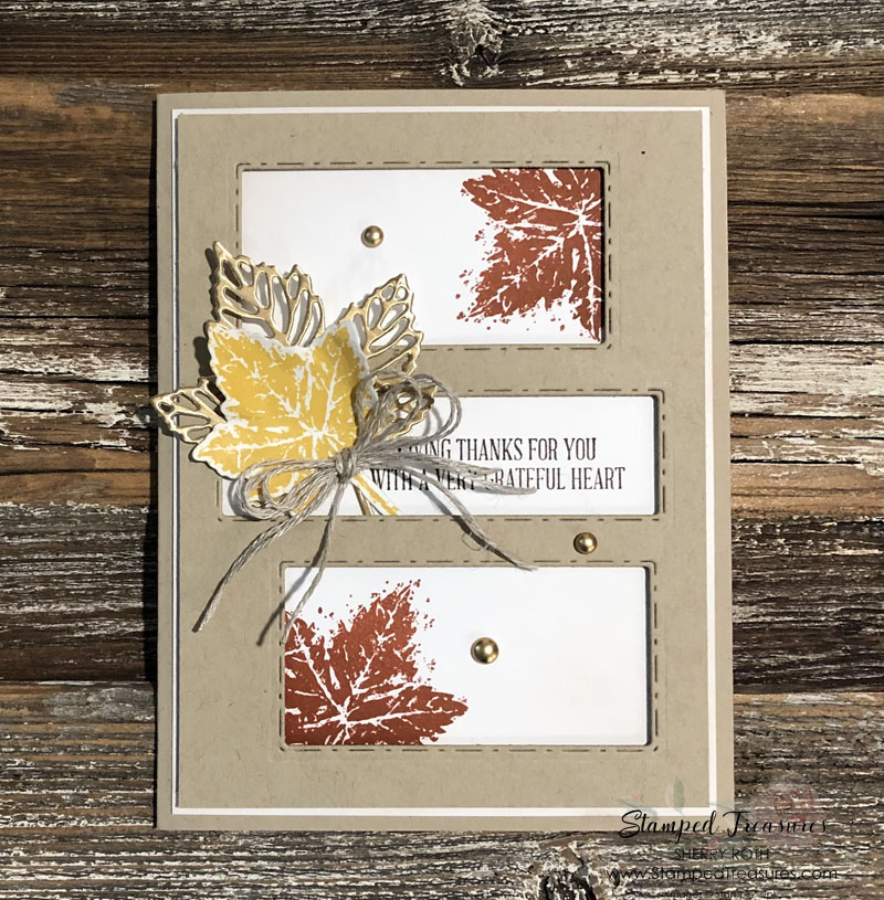 Gorgeous Leaves Thanksgiving Card