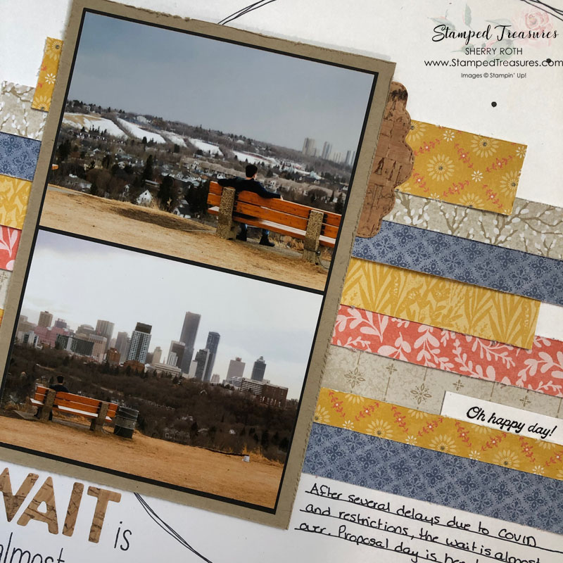 The Wait is Almost Over Scrapbook Layout