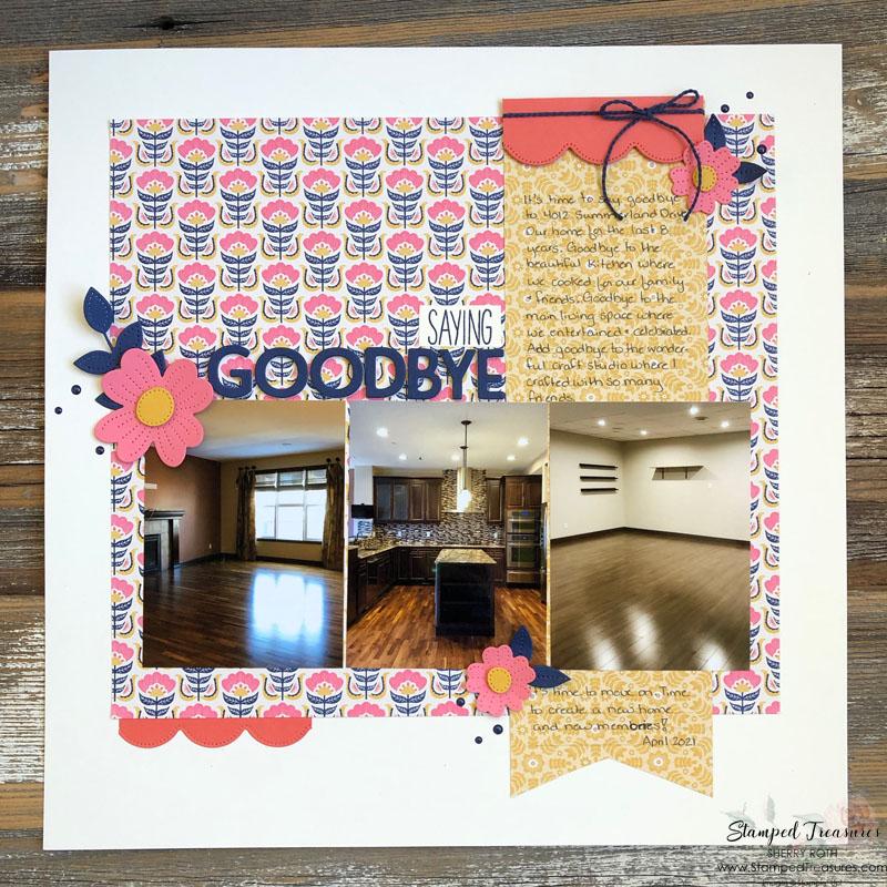 Saying Goodbye Scrapbook Layout